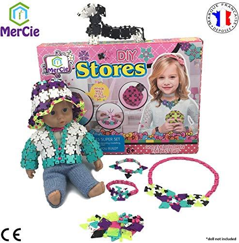 Creatieve sieraden montage speelgoed | 1800 tegels en verbindingsstukken om sieraden, modeaccessoires, poppenkleding en meer te maken | Origineel spel voor meisjes 6 7 8 9 10+ jaar oud
