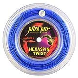 Pro's Pro Hexaspin Twist Corda per Racchetta da Tennis - 200m Bobina - 1.25mm - Blu