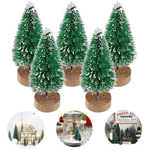 Künstlicher Weihnachtsbaum Tisch Tannenbaum Kunst Klein Deko, Unechter Weihnachtsbaum Kunst Christbaum Weihnacht Baum Tisch Deko Weihnachten Künstliche Weihnachtsbäume Tannenbäume(Grün, 8,5cm-5pcs)