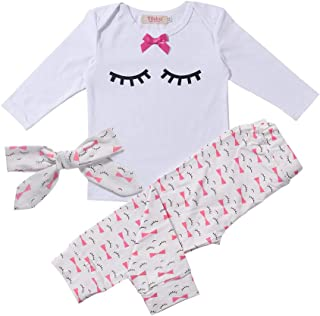 Yilaku Newborn Infant Baby Girls Summer Outfits 3PCS Halter Backless Jumpsuit Tops + Shorts Bloomer+ Headband Set