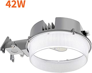 CINOTON LED Barn Light 42W, 5000K Daylight Dusk to Dawn LED Outdoor Lighting with Photocell, 4950lm LED Security Area Light, Replace Up to 175MH, Yard Light for Farm/Garage/Sidewalk