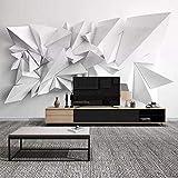 Sala de estar mural visual blanco y negro origami restaurante fondo pared tela sala de estar impermeable papel tapiz papel pintado a papel pintado pared dormitorio autoadhesivo wallpap-400cm×280cm