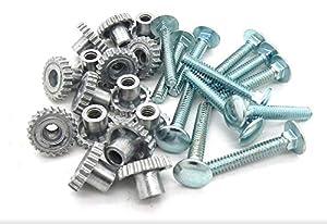 "DryFur Pet Carrier Metal Fasteners Nuts Bolts (1-1/4"" Medium Bolts, 16 Pack)"