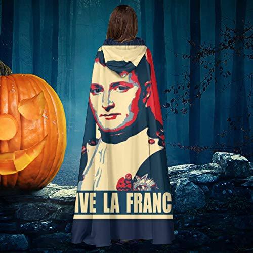 OJIPASD Napolen Vive Le France Unisex Navidad Halloween Bruja Caballero con Capucha Bata de Vampiro Capa de Disfraz de Cosplay