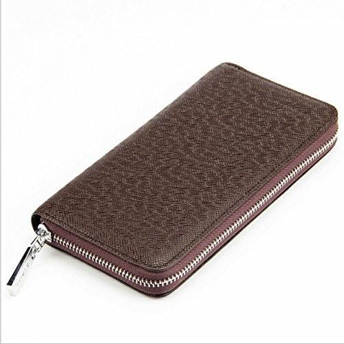 Dosige 1 x portemonnee, lang, van PU-leer, mini-portemonnee, veelzijdig inzetbaar, portemonnee, Bruin (bruin) - QY3145C171PPA6XNVEM