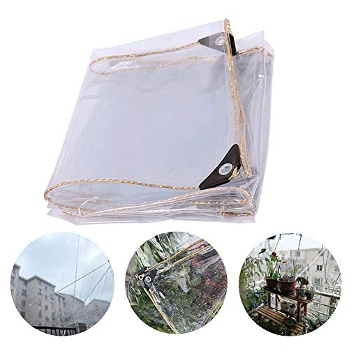 GYYARSX-Plant Covers Clear Tarpaulin Waterproof Heavy Duty Rainproof Windshield Cold Protection Insulation PVC Outdoor Cover Plastic Tarpaulin, 20 Sizes (Color : Clear, Size : 0.7X1.9M)