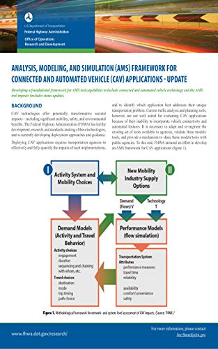 Analysis, Modeling, and Simulation (AMS) Framework for Connected and Automated Vehicle (CAV) Applica