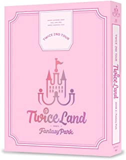 JYP Entertainment Twice - Twice 2ND Tour TWICELAND Zone 2:Fantasy Park DVD 3DVD+144p Photobook+9Photocards+On Pack Poster+Double Side Extra Photocards Set