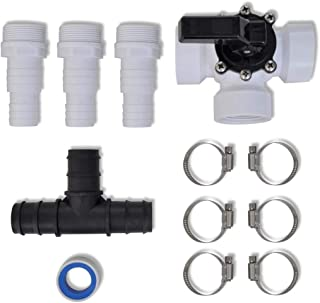Plastic 3-Way Valve Bypass Kit for Pool Solar Heater Solar Heating System Accessory Connected with 1.3