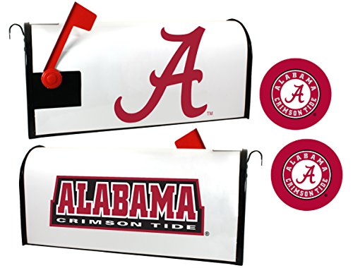 Alabama Crimson Tide Magnetic Mailbox Cover & Sticker Set