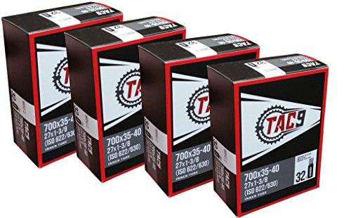 TAC 9 4 Pack Tube, 700 x 35-40 (27 x 1-3/8) Regular Schrader Valve, 32mm, (ISO 622/630)