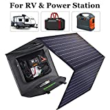ECO-WORTHY 120W Portable Solar Panel Briefcase Foldable 12V Complete Charge Kit with Controller