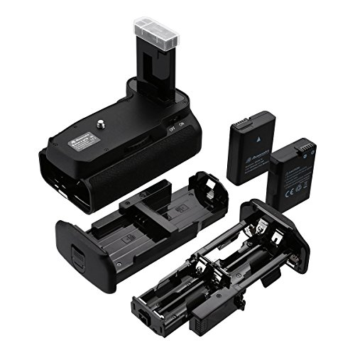 Powerextra Battery Grip + 2 × High Capacity 1500mAh EN-EL14/EN-EL14A Battery + AA-Size Battery Holder with Infrared Remote Control for Nikon D3100/D3200/D3300/D5300 Digital SLR Camera