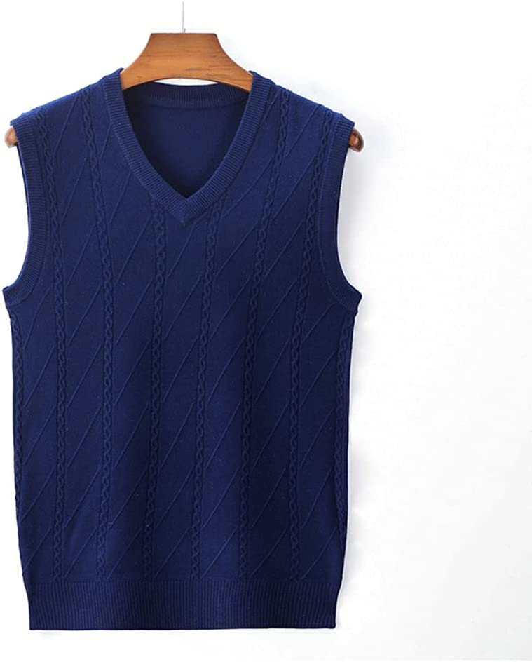 Limited price sale GYZCZX Soldering Men Leisure Sleeveless Sweater Vest Solid Fashion Casual