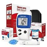 Glucometro, Misuratore Di Glicemia, Diabete Test Kit Glucosio Nel Sangue, Sinocare Safe Accu2 Kit Di Monitoraggio Dello Zucchero Con 10 Strisce Codefree Reattive indipendentee mg/dL