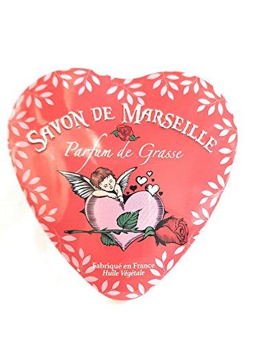 Parfum de Grasse - Savon de Marseille dans une boite cœur en métal -