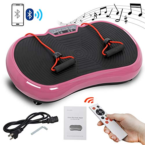 Read About SUPER DEAL Pro Vibration Plate Exercise Machine - Whole Body Workout Vibration Fitness Pl...