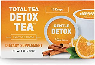TotalTea Herbal Detox Tea K-Cup - Caffeine Free - All Natural - Compatible with 2.0 Kcup - Slimming Herbal Tea for Gentle Cleansing - 12 Count Tea Pods