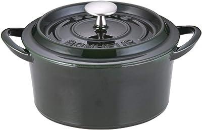 イシガキ産業 ボン・ボネール ココット 20㎝ マジョリカグリーン 鉄鋳物 中国 ABVB809