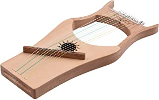 Cshine Walter.t 10-String Wooden Lyre Harp Nylon Strings Spruce Topboard Rubber Wood Backboard String Instrument with Carry Bag WH02 Upgraded Version