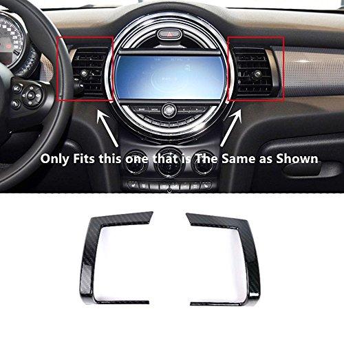 ABS Carbon Fiber Style Middle Console Air Vent Cover Trim For BMW MINI Cooper Hardtop 3dr (F56) / Hatch Cooper 5dr (F55) Hatchback 2014-2018