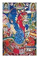 ジグソーパズル格薩爾王蔵族伝奇史1000/2000/4000点のジグソーパズルを提供して、独特な家庭の装飾と贈り物 (Size : 4000pieces)