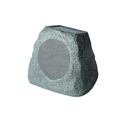 Ion Solar Stone 6.5 Inch Wireless Bluetooth Water-Proof Outdoor Audio Rock Speaker with Solar Panel (Non-Retail Packaging)