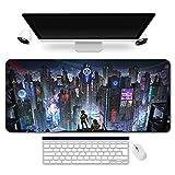 890621fr - Cyberpunk Tapis de Souris |Cyberpunk mouse pad MANGA pour gamer XXL |Tapis de...