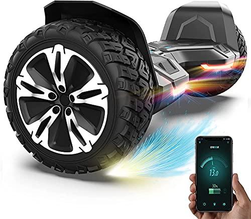"""Gyroor Hoverboard 8.5\"""" Offroad Hoverboard G2 Self Balancing Scooter mit Bluetooth-Musiklautsprecher & LED Lichter für Kinder und Erwachsene UL2272 Certified 20-120kg Belastet 700W Schwarz"""