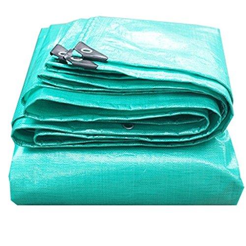 AI LI WEI waterdicht dekzeil vloerbedekking luifel duurzaam scheurbestendig versterkt anti-aging regendicht PE stofdicht buiten, groen, 180g / M2 (Energy A++) (Maat: 5x6M) dekzeil