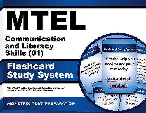 Mtel Communication And Literacy Skills 01 Flashcard Study System Mtel Test Practice Questions Exam Review