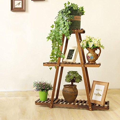 Support de fleur en bois, support de fleur en bois massif de salle de séjour, plancher de plusieurs étages Assemblée de fleur créative,