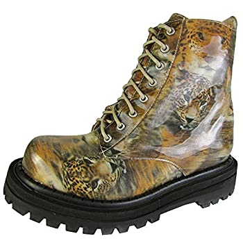 Jeffrey Campbell Womens Grohl Fashion Ankle Boot Shoe 3D Leopard US 6