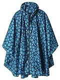 Hooded Waterproof Rain Poncho with Zipper Outdoor Windbreak Colorful Ripple Rain Jacket
