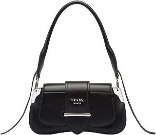 Women's Leather Sidonie Shoulder Handbag Black