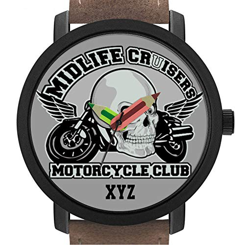Geschenk für Erwachsene | Kinder | Geburtstag | Stilvolle niedliche Armbanduhr mit Bleistift Form Pointer Ornament Geschenk 249.Midlife Cruisers MC Custom Uhren