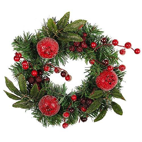Kerstkrans, 12inch granaatappel Pinecone Kerstmis Opknoping Garland Handgemaakte Kerstversiering voor Nieuwjaar Thanksgiving Vakantie Krans Voordeur Decoratie