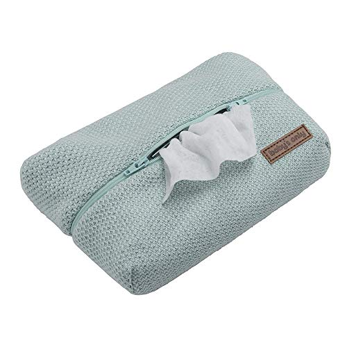 BO Baby's Only - Feuchttücherbezug aus Baumwolle für Baby Tücher - 24x14x5 cm - für Jungen und Mädchen - Minze