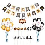 IMIKEYA 1 Set Halloween Theme Bunting Festive Cake Picks Partiendo Adornos