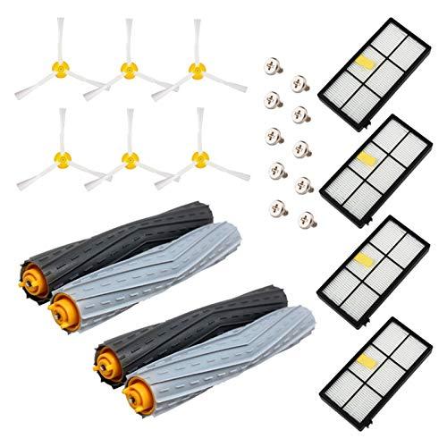 ZRNG 22pcs Kit Fit for Irobot Roomba 800 900 Series 860 870 880 890 960 980 990 Piezas de aspiradora La instalación es Simple y fácil de Usar.
