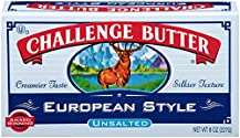 Challenge Dairy, European-Style Unsalted Butter Quarters, 8 oz