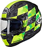 Arai – Casco de moto integral Profile-V Patch – Amarillo fluorescente / negro (L)