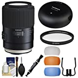 Tamron SP 90mm f/2.8 Di VC USD Macro 1:1 Lens with Tap-in Console + Filter + Flash Diffusers Kit for Canon EOS Cameras