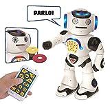 Lexibook Powerman- Robot Educativo e Interattivo, Colore Bianco Nero, ROB50IT