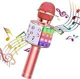 BlueFire Karaoke Mikrofon, Bluetooth Mikrofon Kinder, Tanzen LED Lichter...