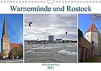 Warnemuende und Rostock, Perlen an der Ostsee (Wandkalender 2021 DIN A4 quer): Bilder von einem wunderschoenen Seebad und einer traditionsreichen Hansestadt (Monatskalender, 14 Seiten )