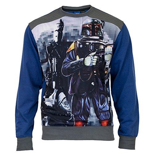 Star Wars Prime Bounty Crew Neck Sweatshirt- Large Blue