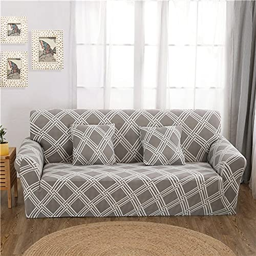 Funda de sofá de Spandex Funda de sofá elástica Moderna Adecuada para Sala de Estar Funda de sofá Todo Incluido con Envoltura hermética Muebles A16 1 Plaza