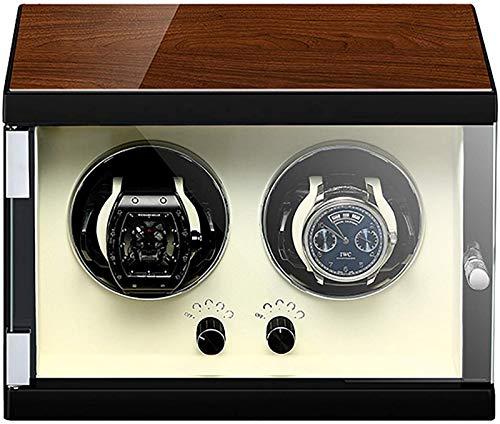 JJDSN Automatische Uhr Shaker Winder Mechanische Uhr Display Organizer Luxus Uhrgehäuse Aufbewahrungshalter Ultra-leiser Motor Plattenspieler Uhr Wickelbox Geeignet für mechanische Uhren