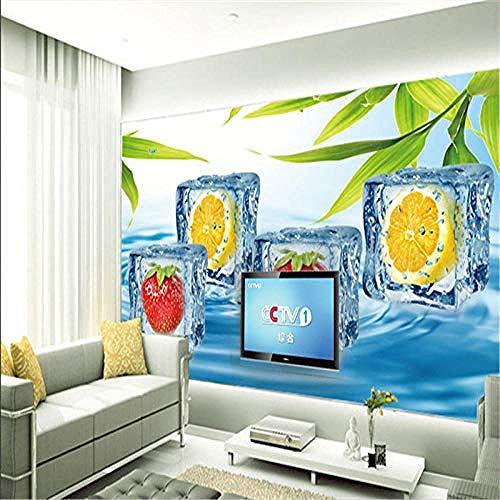 Bevroren fruit creatieve serie Hd afdrukken muur schilderen grote poster foto zijde muurschildering voor woonkamer slaapkamer huisdecoratie op maat 3D behang plakken woonkamer de muur voor slaapkamer muurschildering 350 cm.